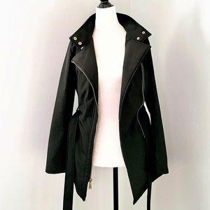 Michael Kors Fleece Lined Soft Shell Jacket w/Hood